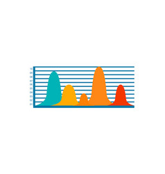 colorful bar graph icon vector image