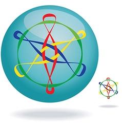 colorful design element vector image