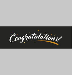 Congrats congratulations banner with glitter vector