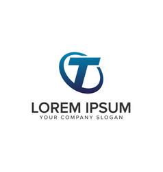 creative modern letter t logo design concept vector image