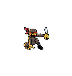 creative ninja logo vector image