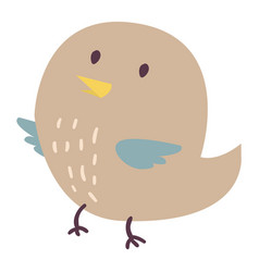 Cute bird cartoon colorful vector