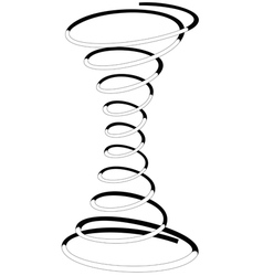 Cylindrical spiral spring vector image vector image