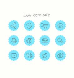 doodle icons set isolated on white web icons set 2 vector image