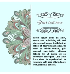 dudle pattern with place for text vector image