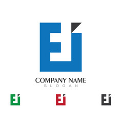 E letter logo business template icon design vector