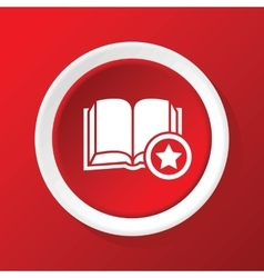 Favorite book icon on red vector