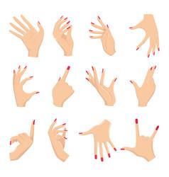 Female hands gestures vector