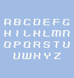 glitch font letters alphabet vector image