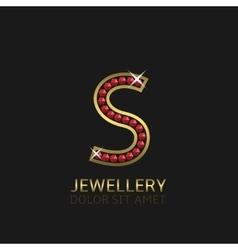 Golden Letter S vector