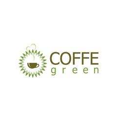 green coffee logo vector image