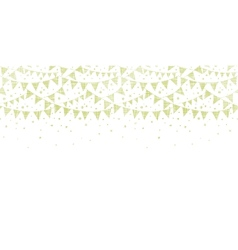 Green Textile Party Bunting Horizontal Seamless vector