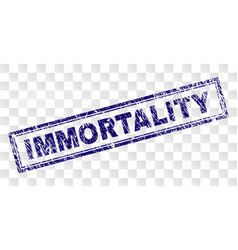 Grunge immortality rectangle stamp vector