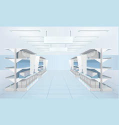 inside the supermarket composition vector image