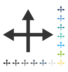 Intersection directions icon vector