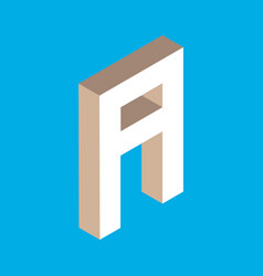 isometric letter a vector image