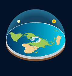 isometric planet earth sun and moon vector image