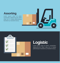 Logistic service business icons vector
