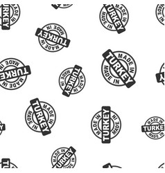 made in turkey stamp seamless pattern background vector image