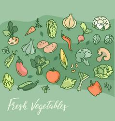 making vegetarian food cafes printing and more vector image
