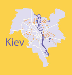 Map of the districts of kiev ukraine flat vector