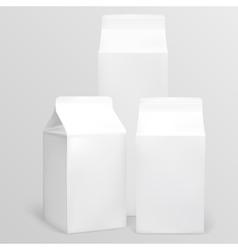 Milk carton vector image