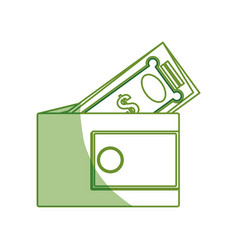 Money wallet isolated vector