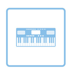 music synthesizer icon vector image