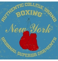 New york boxing typography vector
