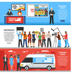 news horizontal banners vector image