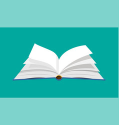 Open book with an upside down pages vector