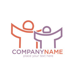 people outline icon for social company vector image