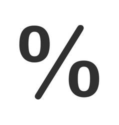 percent shape icon vector image