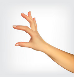 realistic 3d silhouette of hand showing the size vector image