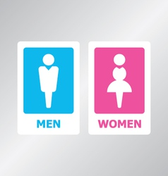 Restroom Sign Color vector image