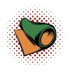 Rolled mat comics icon vector image