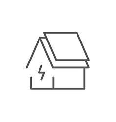 rosolar panel line outline icon vector image