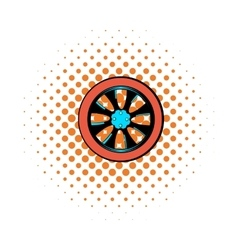 Rotor comics icon vector