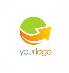 round arrow up logo vector image