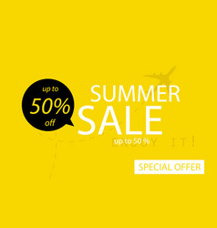 sale banner template design summer sale special vector image
