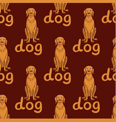 Seamless background happy dog with vector