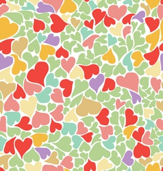 seamless pastel heart background vector image vector image