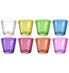 Set of glasses in different colors vector image