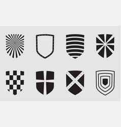 shield symbol icon emblem security design graphic vector image