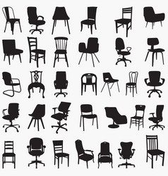 silhouettes chair vector image