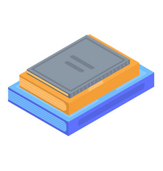 stack of book icon isometric style vector image