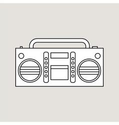 Tape recorder vector