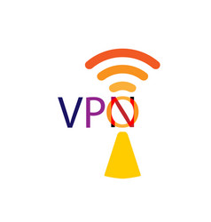 vpn icon protect safety concept save internet vector image