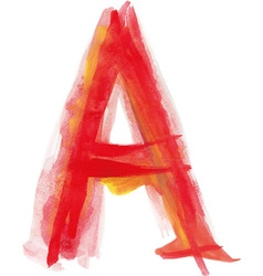 Watercolor Font LETTER A vector