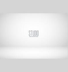white studio empty room background vector image